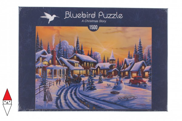 BLUEBIRD, BLUEBIRD-PUZZLE-70100, 3663384701009, PUZZLE TEMATICO BLUEBIRD NATALE A CHRISTMAS STORY 1500 PZ