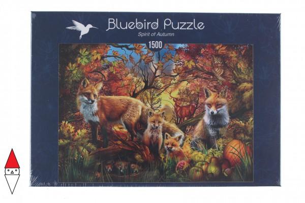 BLUEBIRD, BLUEBIRD-PUZZLE-70165, 3663384701658, PUZZLE ANIMALI BLUEBIRD VOLPI SPIRIT OF AUTUMN 1500 PZ