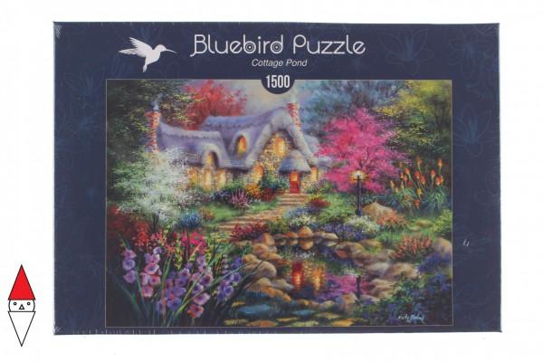 BLUEBIRD, BLUEBIRD-PUZZLE-70060, 3663384700606, PUZZLE EDIFICI BLUEBIRD COTTAGES E CHALETS COTTAGE POND 1500 PZ