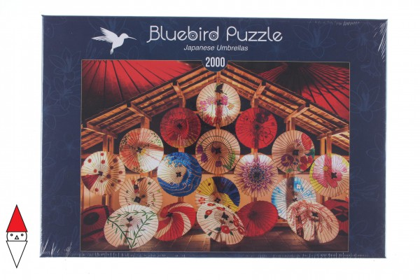 BLUEBIRD, BLUEBIRD-PUZZLE-70008, 3663384700088, PUZZLE OGGETTI BLUEBIRD OMBRELLI JAPANESE UMBRELLAS 2000 PZ