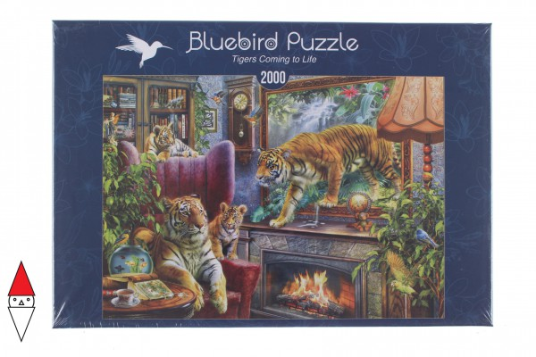 BLUEBIRD, BLUEBIRD-PUZZLE-70171, 3663384701719, PUZZLE ANIMALI BLUEBIRD TIGRI TIGERS COMING TO LIFE 2000 PZ