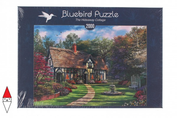 BLUEBIRD, BLUEBIRD-PUZZLE-70196, 3663384701962, PUZZLE EDIFICI BLUEBIRD COTTAGES E CHALETS THE HIDEAWAY COTTAGE 2000 PZ