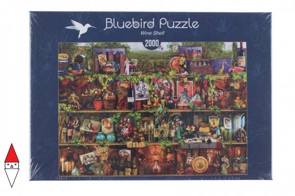 BLUEBIRD, BLUEBIRD-PUZZLE-70142, 3663384701429, PUZZLE OGGETTI BLUEBIRD LIBRERIA WINE SHELF 2000 PZ