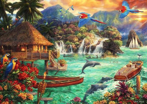 BLUEBIRD, BLUEBIRD-PUZZLE-70052, 3663384700521, PUZZLE PAESAGGI BLUEBIRD SPIAGGE ED ISOLE ISLAND LIFE 2000 PZ