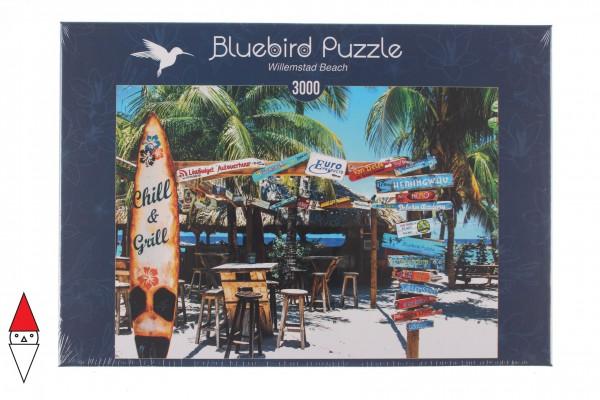 BLUEBIRD, BLUEBIRD-PUZZLE-70016, 3663384700163, PUZZLE PAESAGGI BLUEBIRD SPIAGGE ED ISOLE WILLEMSTAD BEACH 3000 PZ