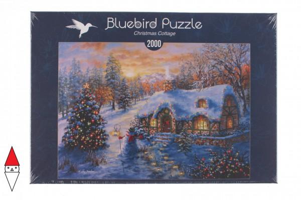 BLUEBIRD, BLUEBIRD-PUZZLE-70065, 3663384700651, PUZZLE TEMATICO BLUEBIRD NATALE CHRISTMAS COTTAGE 2000 PZ