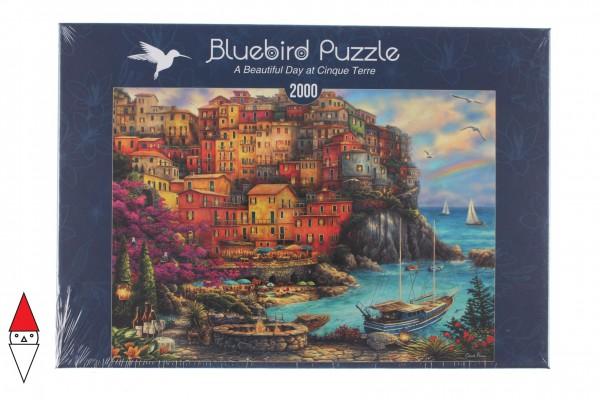 BLUEBIRD, BLUEBIRD-PUZZLE-70055, 3663384700552, PUZZLE PAESAGGI BLUEBIRD PORTI A BEAUTIFUL DAY AT CINQUE TERRE 2000 PZ
