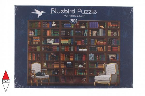 BLUEBIRD, BLUEBIRD-PUZZLE-70274, 3663384702747, PUZZLE OGGETTI BLUEBIRD LIBRERIA THE VINTAGE LIBRARY 2000 PZ