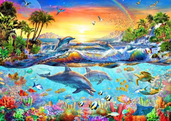BLUEBIRD, BLUEBIRD-PUZZLE-70194, 3663384701948, PUZZLE PAESAGGI BLUEBIRD FONDALI MARINI TROPICAL BAY 3000 PZ