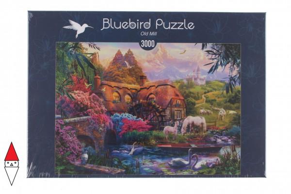 BLUEBIRD, BLUEBIRD-PUZZLE-70146, 3663384701467, PUZZLE EDIFICI BLUEBIRD COTTAGES E CHALETS OLD MILL 3000 PZ
