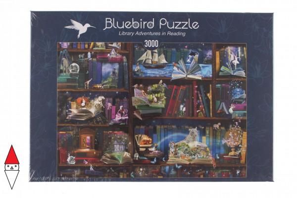 BLUEBIRD, BLUEBIRD-PUZZLE-70199, 3663384701993, PUZZLE OGGETTI BLUEBIRD LIBRERIA LIBRARY ADVENTURES IN READING 3000 PZ