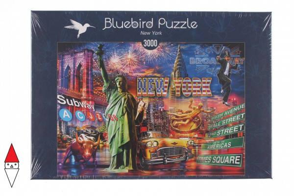 BLUEBIRD, BLUEBIRD-PUZZLE-70149, 3663384701498, PUZZLE TEMATICO BLUEBIRD CITTA NEW YORK 3000 PZ