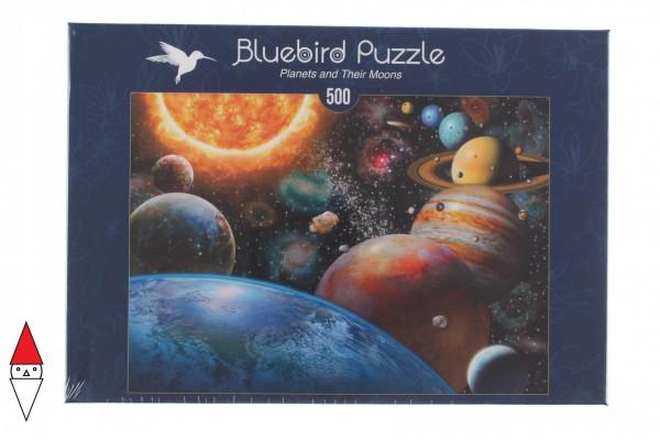 BLUEBIRD, BLUEBIRD-PUZZLE-70110, 3663384701108, PUZZLE TEMATICO BLUEBIRD SPAZIO PLANETS AND THEIR MOONS 500 PZ