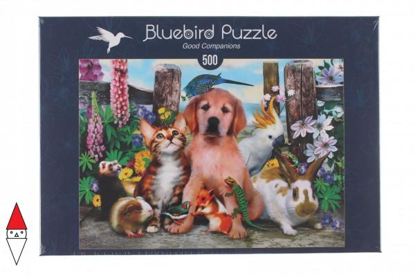BLUEBIRD, BLUEBIRD-PUZZLE-70291, 3663384702914, PUZZLE ANIMALI BLUEBIRD ANIMALI VARI GOOD COMPANIONS 500 PZ