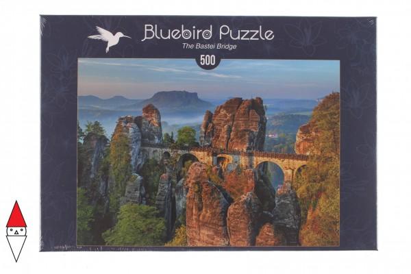 BLUEBIRD, BLUEBIRD-PUZZLE-70003, 3663384700033, PUZZLE EDIFICI BLUEBIRD PONTI THE BASTEI BRIDGE 500 PZ