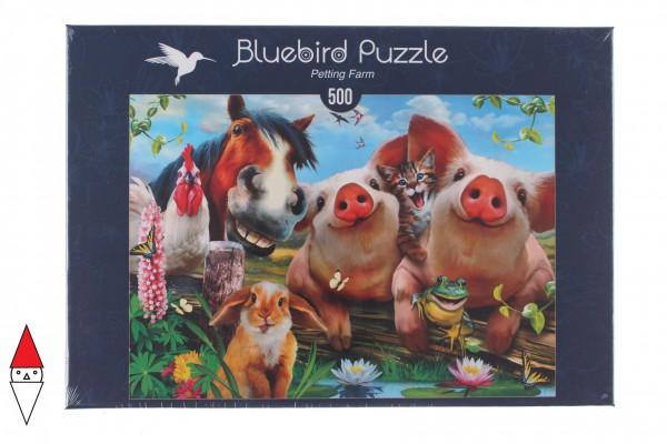 BLUEBIRD, BLUEBIRD-PUZZLE-70285, 3663384702853, PUZZLE ANIMALI BLUEBIRD ANIMALI VARI PETTING FARM 500 PZ