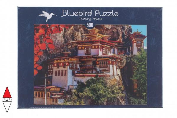 BLUEBIRD, BLUEBIRD-PUZZLE-70013, 3663384700132, PUZZLE EDIFICI BLUEBIRD PAGODE TAKTSANG, BHUTANEUR 500 PZ