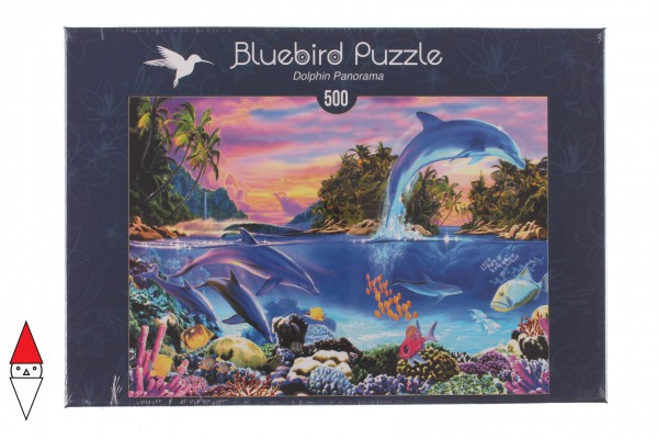 BLUEBIRD, BLUEBIRD-PUZZLE-70132, 3663384701320, PUZZLE PAESAGGI BLUEBIRD FONDALI MARINI DOLPHIN PANORAMA 500 PZ