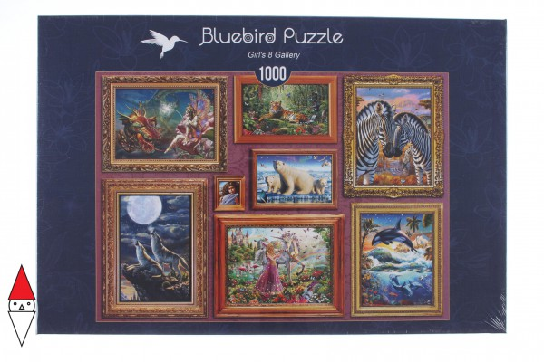 BLUEBIRD, BLUEBIRD-PUZZLE-70234-P, 3663384702341, PUZZLE TEMATICO BLUEBIRD GALLERIA GIRLS 8 GALLERY 1000 PZ