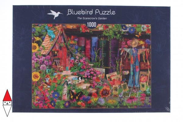 BLUEBIRD, BLUEBIRD-PUZZLE-70238-P, 3663384702389, PUZZLE PAESAGGI BLUEBIRD FIORI E GIARDINI THE SCARECROWS GARDEN 1000 PZ