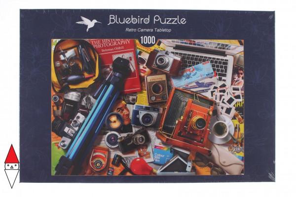BLUEBIRD, BLUEBIRD-PUZZLE-70240-P, 3663384702402, PUZZLE OGGETTI BLUEBIRD FOTOCAMERE RETRO CAMERA TABLETOP 1000 PZ