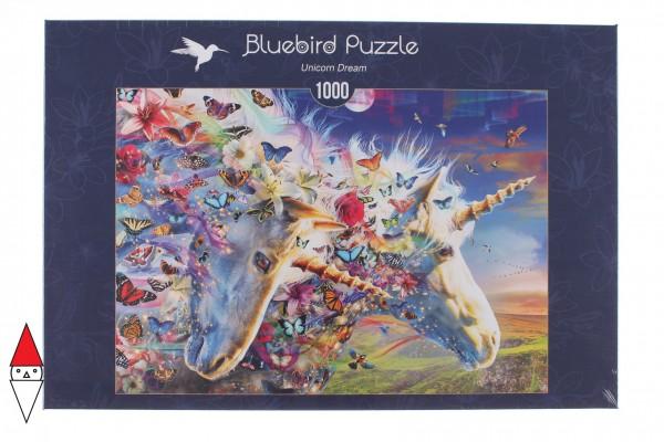 BLUEBIRD, 70245-P, 3663384702457, PUZZLE GRAFICA BLUEBIRD FANTASY UNICORN DREAM 1000 PZ