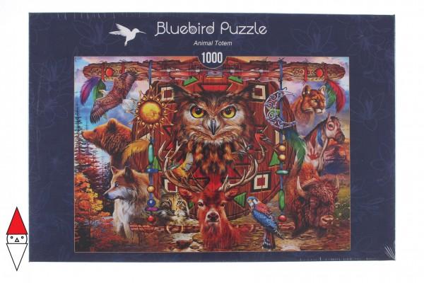 BLUEBIRD, BLUEBIRD-PUZZLE-70247-P, 3663384702471, PUZZLE ANIMALI BLUEBIRD ANIMALI VARI ANIMAL TOTEM 1000 PZ