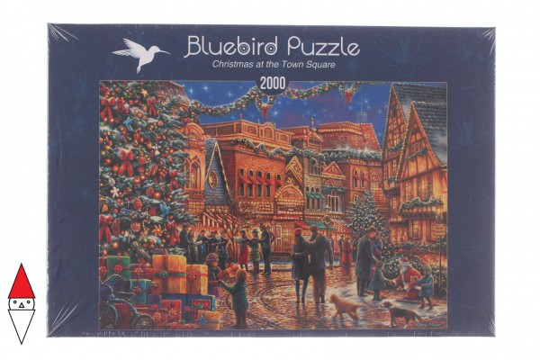 PUZZLE TEMATICO BLUEBIRD NATALE CHRISTMAS AT THE TOWN SQUARE 2000 PZ